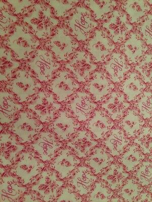 Longaberger Horizon Of Hope Fabric By The 1/2 Yard - NEW