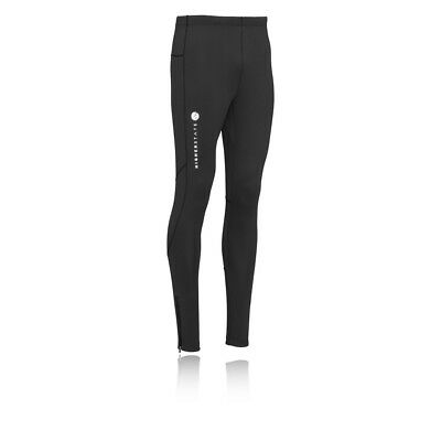 Higherstate Mens Black Long Fitted Running Training Sports Tights Bottoms