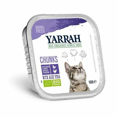 Yarrah Adult Cat - Chicken & Turkey Chunks With Aloe Vera 100g
