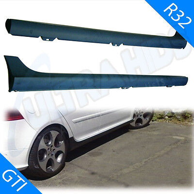 Side Skirts Set For Vw Golf 5 Mk5 R32 Gti Gti Abs Plastic Fits 3 & 5 Door
