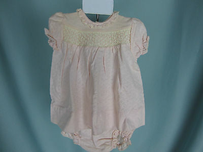 Vintage Carter's 6 Mo Baby Pink Panti  Dress Set Beacon Infant Jacket Hanger NWT
