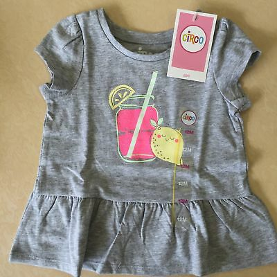 NEW, Circo Toddler Girls' Tee Shirt- Heather Grey