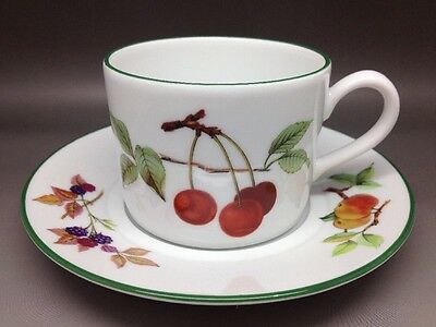 Royal Worcester Evesham Vale Cup And Saucer