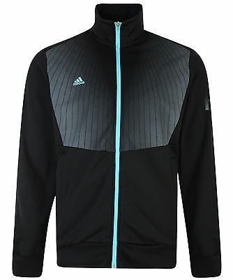 Mens New Adidas F50 Track Top Tracksuit Jacket Sweater - Black - Football Gym