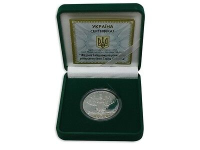 Ukraine 5 Hryvnias Silver Coin, 2014, Mint, 180 Years of Taras Shevchenko