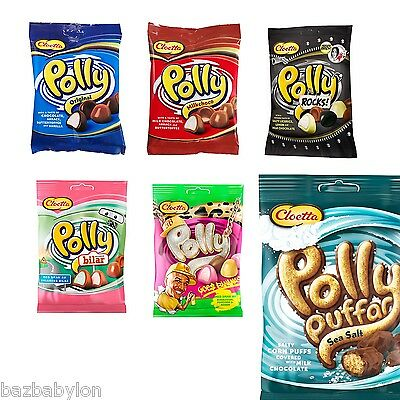 Cloetta Polly ALL KINDS INSIDE LISTING 6 Flavours Made in Sweden*