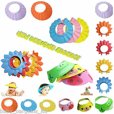 Baby Kids Children Shampoo bath Shower Cap Soft Hair Wash Waterproof Shield UK