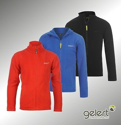 New Junior Boys Branded Gelert Warm Full Zip Ottawa Fleece Jacket Size Age 7-13