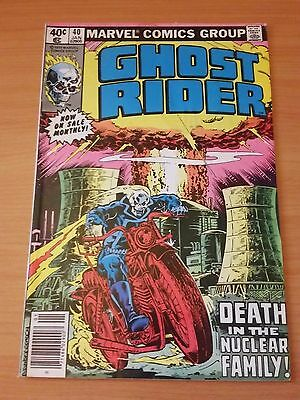 Ghost Rider #40 ~ VERY FINE - NEAR MINT NM ~ 1980 MARVEL COMICS