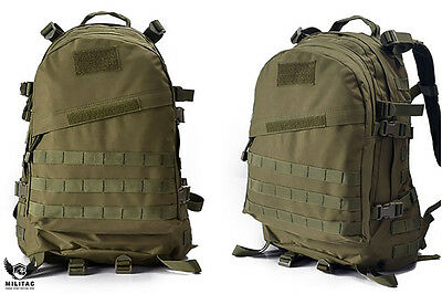 Green Backpack /Olive Green Tactical Molle Rucksack 45 Litre Military Hiking Bag