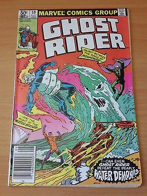 Ghost Rider #59 ~ FINE - VERY FINE VF ~ 1981 MARVEL COMICS