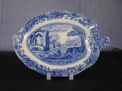 Spode Blue Italian Leaf Tray Dish unused - Made in England                S1048