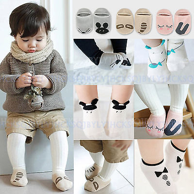 Non-Slip Baby Toddler Low cut Sock Shoes Slippers Kids Boys Girls 0-24 Months