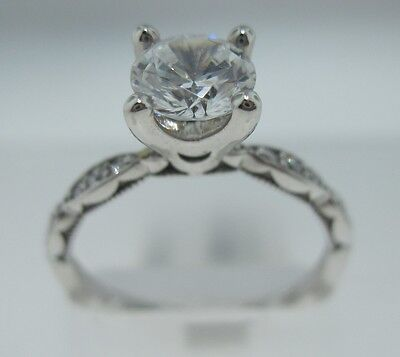 New Tacori Petite Crescent Collection HT2547 1.5 CU 6.5 W Engagement Ring