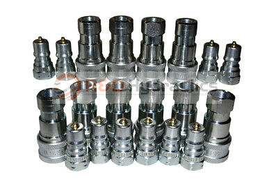 """10 Sets of 1/4"""" ISO 7241-B Hydraulic Quick Disconnect Couplers"""