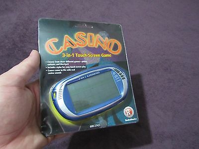 New Radio Shack Casino 3-In-1 Touch Screen Game 600-2743 Poker Solitaire