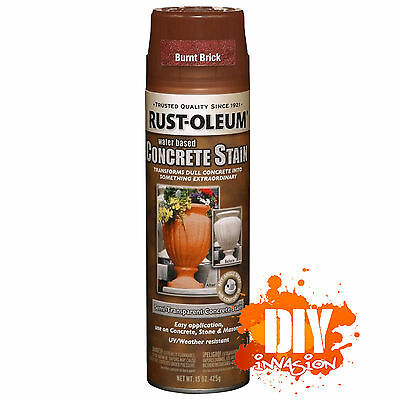 Rust-Oleum Concrete Stain Sealer Burnt Brick Spray Paint Stone Masonry Pots