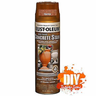 Rust-Oleum Concrete Stain Sealer Sienna Spray Paint Stone Masonry Pots Statues