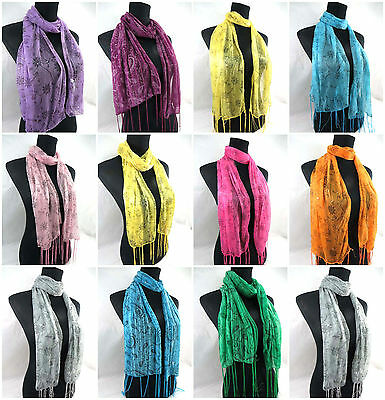 US SELLER- 12 women scarves wholesale fashion lot bulk paisley floral butterfly