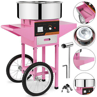 Commercial Electric Cotton Sugar Candy Floss Maker Machine Pink Christmas Snack