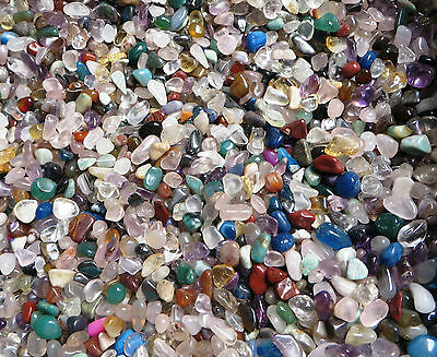 200g Assorted Mini Medium Tumbled Gemstones Crystal NO HOLE ( Brazil )