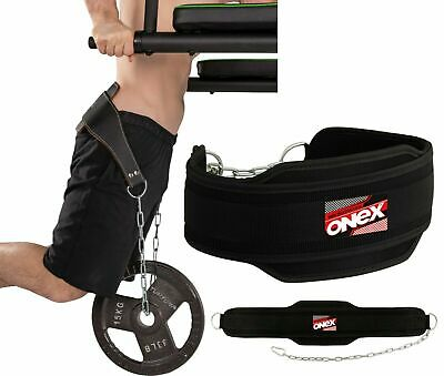New Pro Dipping Belt Body Building Weight Dip Lifting Chain Exercise GymTraining
