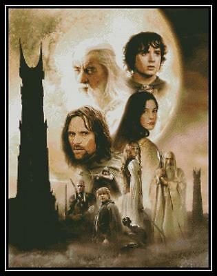 Lord of the Rings Two Towers - Cross Stitch Chart/Pattern/Design/XStitch