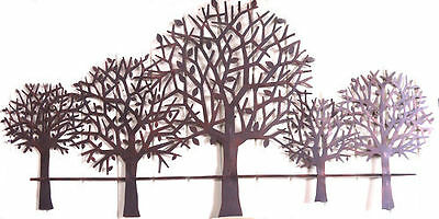 Large Iron Tree Metal Wall Art Leaves Hanging Sculpture Home Garden Decor 83cmL