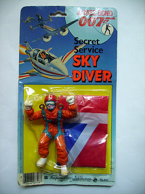 JAMES BOND 007 - Secret service sky diver - ROGER MOORE - IMPERIAL TOY 1984