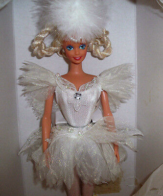 1991 Swan Lake Barbie and Rotating Music Box Stand  MINT In Shipper!