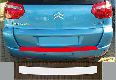paint protective film boot sill transparent for Citroën C4 Picasso (Year ab 07)