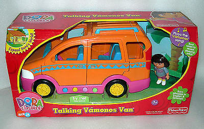 Dora The Explorer Talking Vamonos Van With Dora Figure - NIB