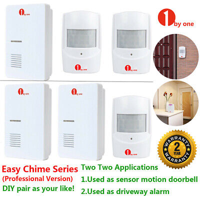 36 Sounds Wireless Patrol PIR Sensor Detector Door Bell Alert Alarm W/ 4 Sensors
