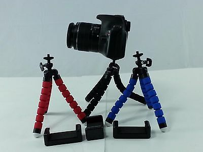 Black Mini Spider Tripod + Cell Phone Holder Canon Nikon Sony DSLR Camera