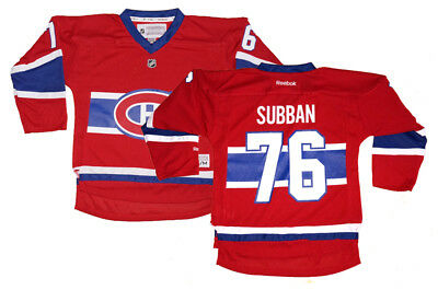 new style 33b48 ebaaf P.K. SUBBAN MONTREAL Canadiens NHL Reebok Youth Replica Home Jersey