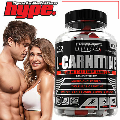 Best Quality L-Carnitine 100 x 500mg capsules │loss burner supplement weight fat