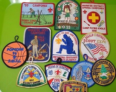 Vintage 90's Florida BSA Boy Scouts of America Patches 12 Total Unused