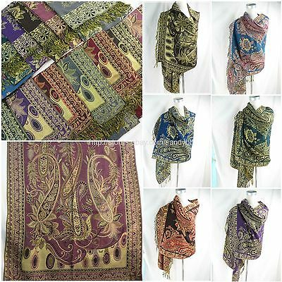 wholesale 10pc  paisley floral viscose pashmina shawl scarf Evening Wrap