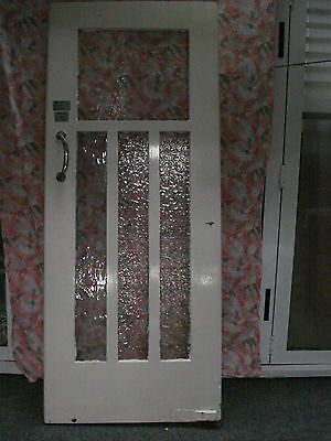 White Swing Door with Glass Panels from a bygone era (W) 810mm x (H) 1955mm