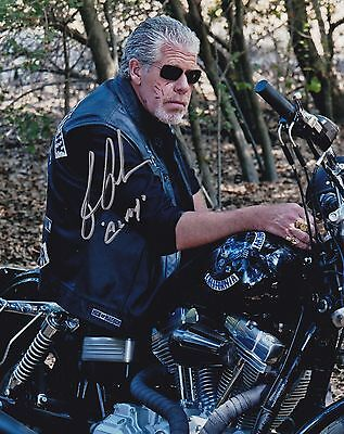 Ron Perlman Signed 8X10 Color Photo Sons Of Anarchy Clay Morrow