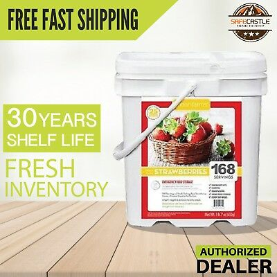 New 1 Lindon Farms 168 Servings Freeze Dried Strawberries Long Term, Free Ship