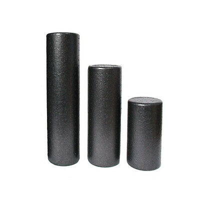 High Density Heavy Foam Roller Extra Firm For Yoga Exercise Massage Black Roller