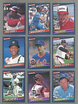 Awesome Lot Of 500 1986 Donruss Baseball Cards With Stars And Hall Of Famers