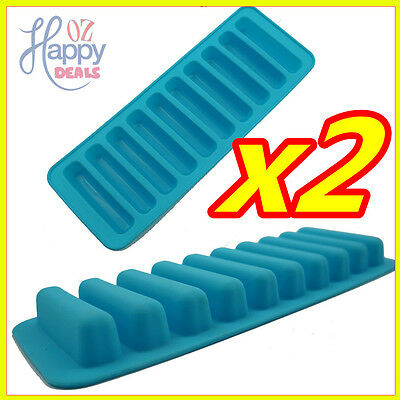Cylinder Ice Chocolate Cube Tray Silicone Molds Jelly Mould Block Thumb Soft Bar