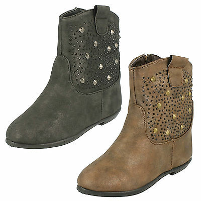 * SALE* SPOT ON H4R086 Girls Studded Ankle Boot