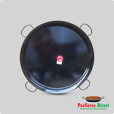 90cm Authentic Traditional Enamelled Steel Paella Pan
