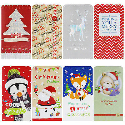 4 Pack of Christmas Contemporary Kids Money / Voucher Wallets with Envelopes