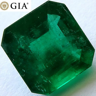 Top Grade Gem 3.09 ct GIA Certified Top Green Emerald Loose Gemstones