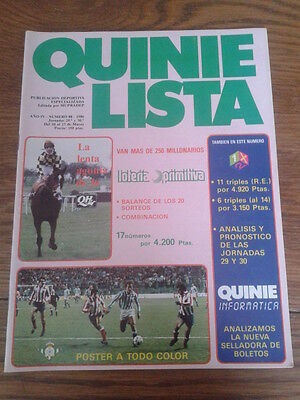 QUINIELISTA nº 88. POSTER: REAL BETIS (85/86)