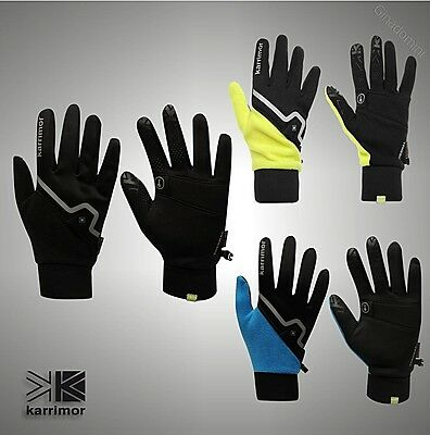 Mens Karrimor Lightweight Running Xlite Stretch Thermal Gloves Size XS/S M/L XL
